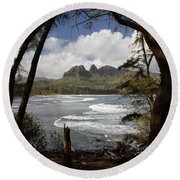 Sleeping Giant Round Beach Towel by Suzanne Luft
