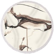 Sleeping Nude Round Beach Towel