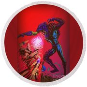 Sleepwalker 1c Round Beach Towel