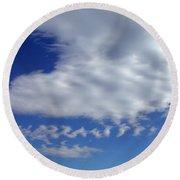 Sleepy Clouds Round Beach Towel