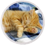 Sleepy Time Round Beach Towel