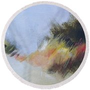 Small Dunes 1 Round Beach Towel by Mary Hubley