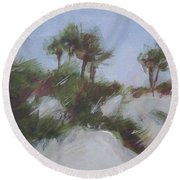 Small Dunes 2 Round Beach Towel
