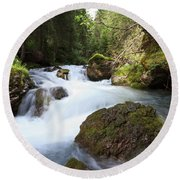 Round Beach Towel featuring the photograph Small Stream by Antonio Scarpi
