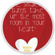 Smallest Things Round Beach Towel