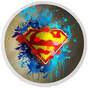 Smallville Round Beach Towel by Anthony Mwangi