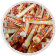 Smarties Penny Candy Round Beach Towel