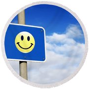 Smiley Round Beach Towel