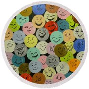 Smilies Round Beach Towel