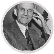 Smiling Henry Ford Round Beach Towel