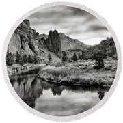 Smith Rock State Park 2 Round Beach Towel