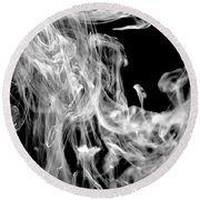 Smoke In The Water Round Beach Towel