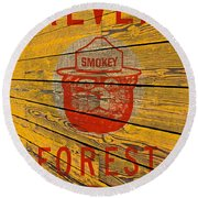 Smokey Round Beach Towel