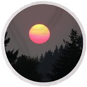 Smokey Sunrise Round Beach Towel
