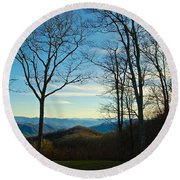 Smoky Mountain Splendor Round Beach Towel