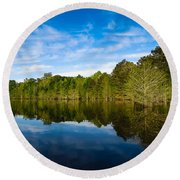 Smooth Reflection Round Beach Towel