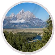 Round Beach Towel featuring the photograph Snake River Overlook by Michael Chatt