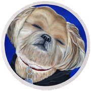 Snickers Round Beach Towel