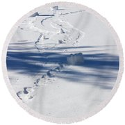 Snow Rollers Round Beach Towel
