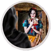 Snow White Round Beach Towel