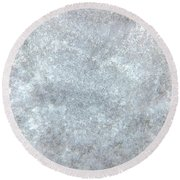 Snow Yourself Round Beach Towel