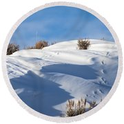 Snowdrifts Round Beach Towel