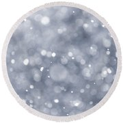 Snowfall  Round Beach Towel