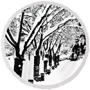 Snowy Walk Round Beach Towel