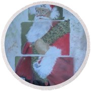 S'nta Claus Round Beach Towel