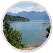Snug Cove  Round Beach Towel