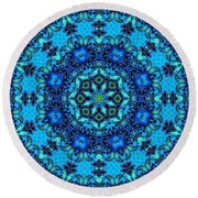 So Blue - 33 - Mandala Round Beach Towel