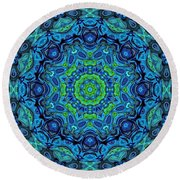 So Blue - 43 - Mandala Round Beach Towel