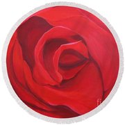 So Red The Rose Round Beach Towel
