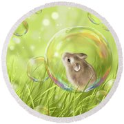 Soap Bubble Round Beach Towel