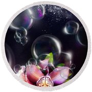 Soap Bubbles Round Beach Towel
