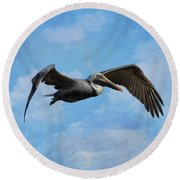 Soaring By Round Beach Towel