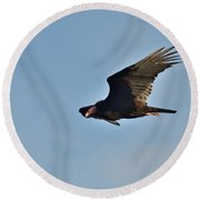 Round Beach Towel featuring the photograph Soaring by David Porteus