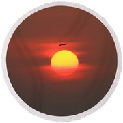 Soaring High Round Beach Towel by Roger Becker