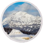 Round Beach Towel featuring the photograph Soda Butte by Michael Chatt