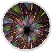 Soft Colors Of The Rainbow Round Beach Towel by Deborah Benoit