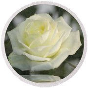Soft Cream Rose Round Beach Towel