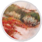Soft Dunes 1 Round Beach Towel by Mary Hubley