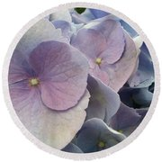 Round Beach Towel featuring the photograph Soft Hydrangea  by Caryl J Bohn