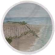 Soft Sea Round Beach Towel