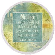 Soft Spa Mother's Day 1 Round Beach Towel