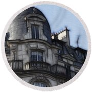 Softer Side Of Paris Architecture Round Beach Towel