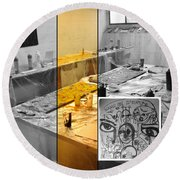 Round Beach Towel featuring the photograph Sogno Nel Presente Part One by Sir Josef - Social Critic - ART