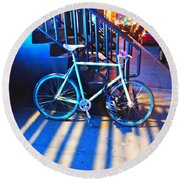 Round Beach Towel featuring the photograph Soho Bicycle  by Joan Reese