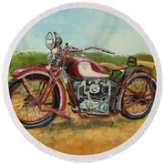 Sokol 1000 - Polish Motorcycle Round Beach Towel