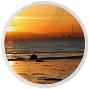 Solar Gold Round Beach Towel